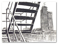 George Haynes - Fire Escape and Port Authority I